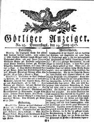 Görlitzer Anzeiger (19.06.1817)