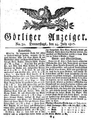 Görlitzer Anzeiger vom 24.07.1817