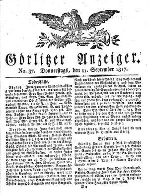Görlitzer Anzeiger vom 11.09.1817