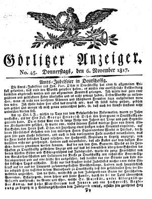Görlitzer Anzeiger vom 06.11.1817