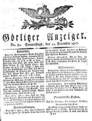 Görlitzer Anzeiger vom 11.12.1817
