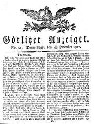 Görlitzer Anzeiger (18.12.1817)