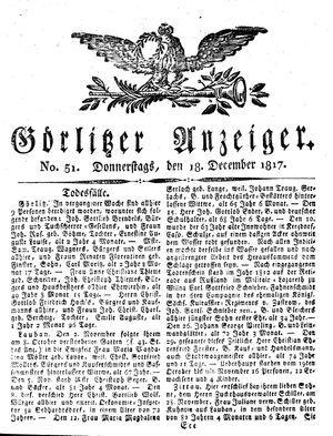Görlitzer Anzeiger vom 18.12.1817
