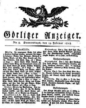 Görlitzer Anzeiger vom 19.02.1818