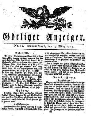 Görlitzer Anzeiger vom 19.03.1818