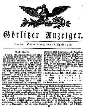 Görlitzer Anzeiger vom 16.04.1818