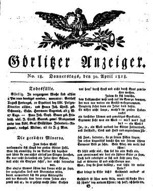 Görlitzer Anzeiger vom 30.04.1818