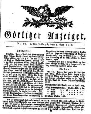 Görlitzer Anzeiger vom 07.05.1818