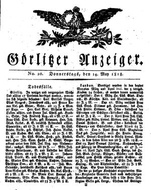 Görlitzer Anzeiger vom 14.05.1818