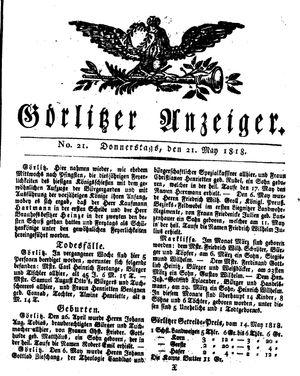 Görlitzer Anzeiger vom 21.05.1818