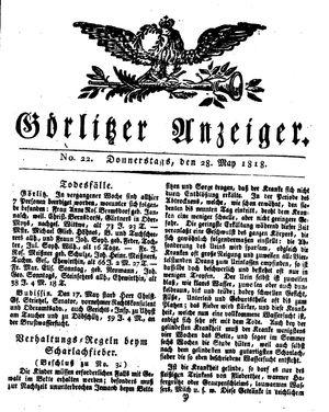 Görlitzer Anzeiger vom 28.05.1818