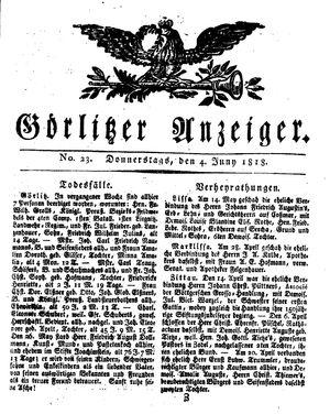 Görlitzer Anzeiger vom 04.06.1818