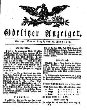 Görlitzer Anzeiger vom 11.06.1818
