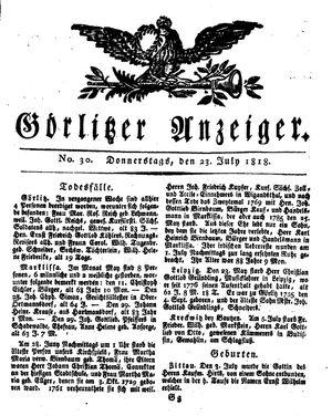 Görlitzer Anzeiger vom 23.07.1818