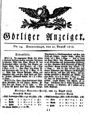 Görlitzer Anzeiger vom 20.08.1818