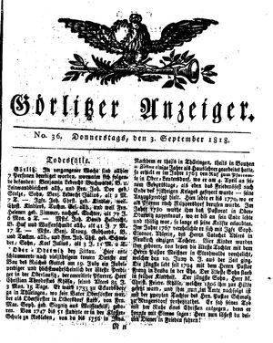 Görlitzer Anzeiger vom 03.09.1818