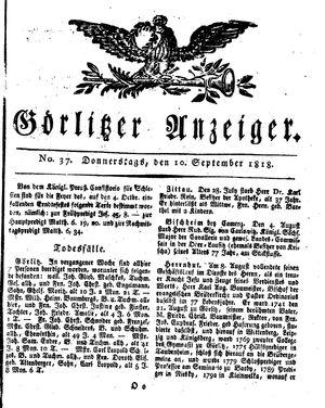 Görlitzer Anzeiger vom 10.09.1818