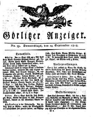 Görlitzer Anzeiger vom 24.09.1818