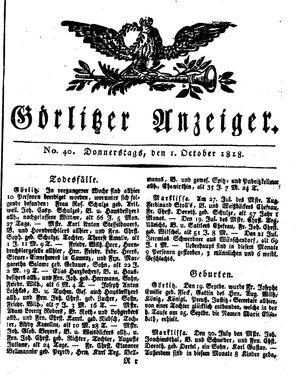 Görlitzer Anzeiger vom 01.10.1818