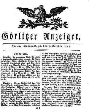 Görlitzer Anzeiger vom 08.10.1818