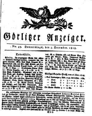Görlitzer Anzeiger vom 03.12.1818