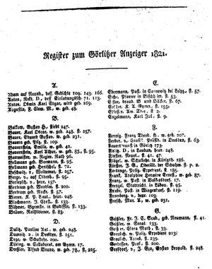 Görlitzer Anzeiger vom 01.01.1821