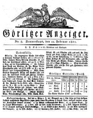 Görlitzer Anzeiger vom 22.02.1821
