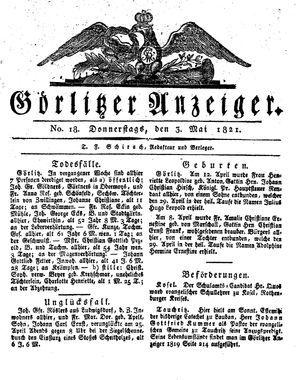 Görlitzer Anzeiger vom 03.05.1821