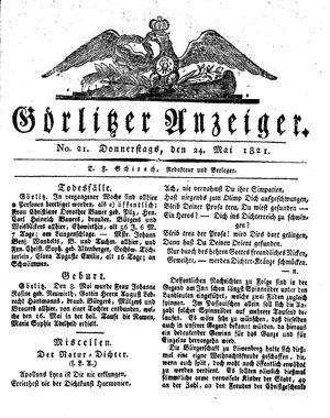 Görlitzer Anzeiger vom 24.05.1821