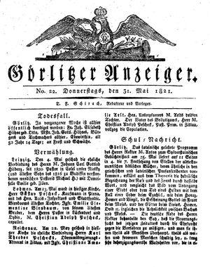 Görlitzer Anzeiger on May 31, 1821