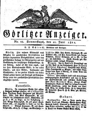 Görlitzer Anzeiger vom 21.06.1821