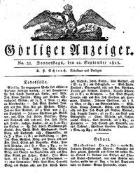 Görlitzer Anzeiger (22.09.1825)