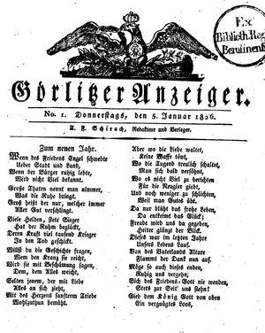 Görlitzer Anzeiger on Jan 5, 1826