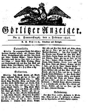 Görlitzer Anzeiger vom 02.02.1826