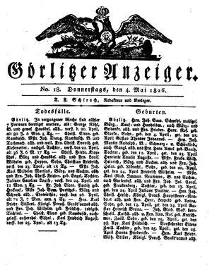Görlitzer Anzeiger vom 04.05.1826