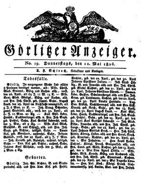 Görlitzer Anzeiger vom 11.05.1826