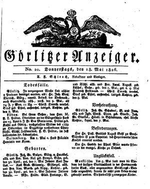 Görlitzer Anzeiger vom 18.05.1826