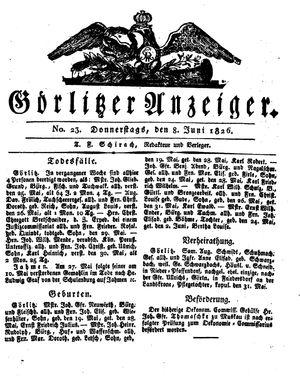 Görlitzer Anzeiger vom 08.06.1826