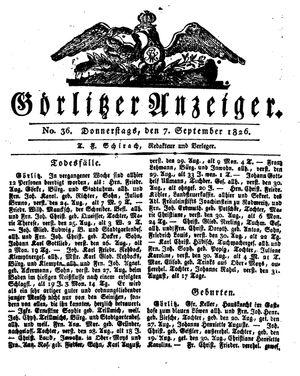 Görlitzer Anzeiger on Sep 7, 1826