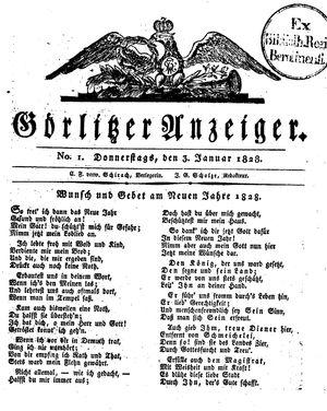 Görlitzer Anzeiger vom 03.01.1828