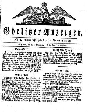 Görlitzer Anzeiger on Jan 10, 1828
