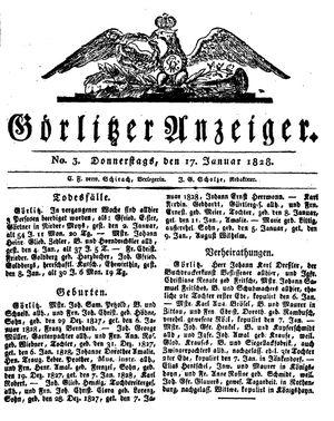 Görlitzer Anzeiger vom 17.01.1828