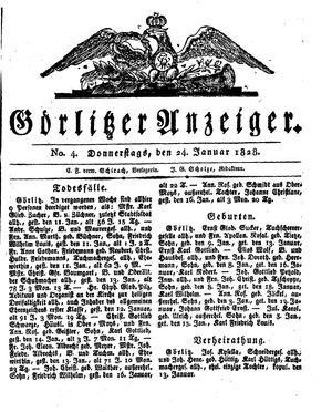 Görlitzer Anzeiger vom 24.01.1828