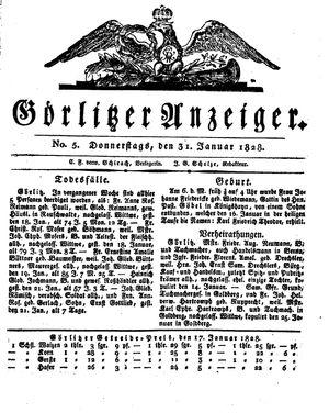 Görlitzer Anzeiger vom 31.01.1828