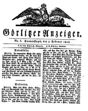 Görlitzer Anzeiger vom 07.02.1828