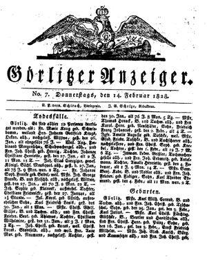 Görlitzer Anzeiger on Feb 14, 1828