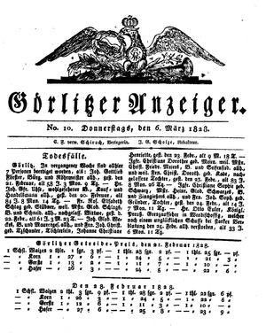 Görlitzer Anzeiger vom 06.03.1828