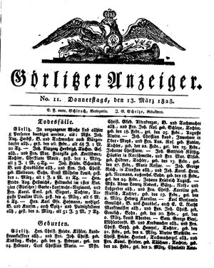 Görlitzer Anzeiger vom 13.03.1828