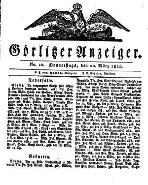 Görlitzer Anzeiger vom 20.03.1828
