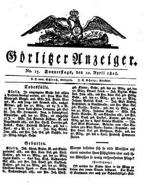 Görlitzer Anzeiger vom 10.04.1828
